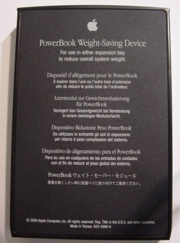 PowerBook Weight-Saving Device