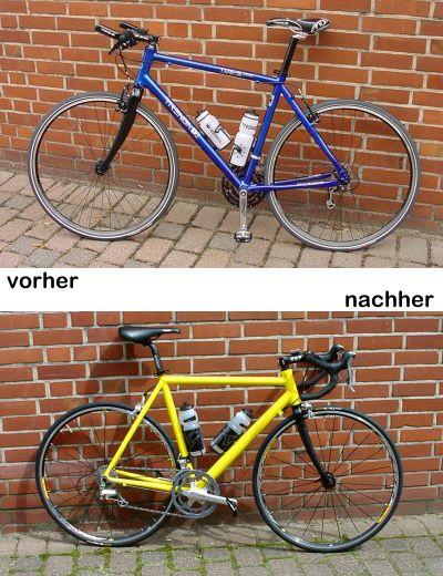 Mein Fahrrad: vorher-nachher