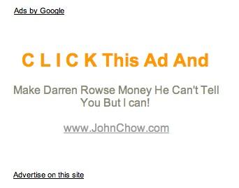 AdSense Werbung auf problogger.net, Screenshot