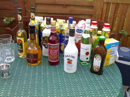 Zutanten für Cocktails