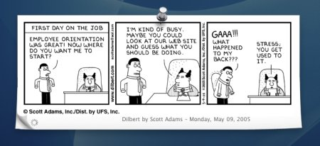 iComic Widget mit Dilbert Comic