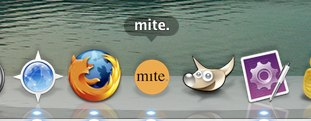 mite app im Dock