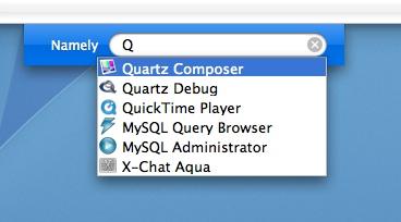 Namely - App-Launcher für Mac OS X