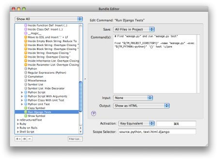 Django Unittests TextMate Bundle
